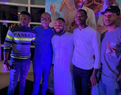 Frank Donga, Samuel Ajibola (Spiff), Adedimeji Lateef, Kelvin Ikeduba for The Call movie premiere | Read details!