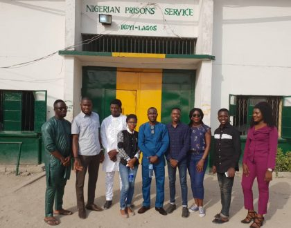 Mustardels Media and friends team up for #ProjectHumanityNG 3.0 at Ikoyi Prison.