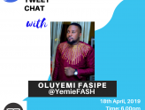 #MMTweetChat with Oluyemi Fasipe.